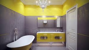 grey and yellow bathroom rug stone filled vanity countertop wooden
