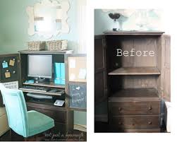 diy craft armoire with fold out table how to turn a regular armoire into a computer cabinet diy diy