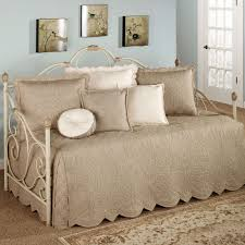 Fitted Daybed Cover Bed U0026 Bath Charming Day Bed With Daybed Cover And Throw Pillows