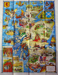 Map Od Scotclans The Macgregors From Glen Strae Near Perthshire