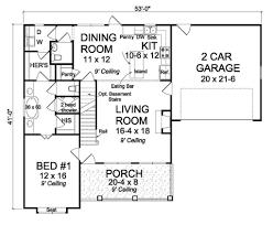 farmhouse style house plan 3 beds 2 50 baths 1597 sq ft plan