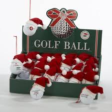 club pack of 24 humorous golf with santa hat