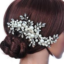 hair accessories for weddings wedding hair accessories pearl flower rhinestone tiara
