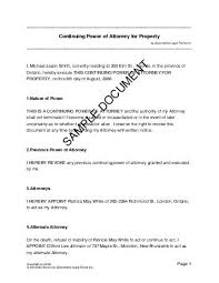 power of authority template power of attorney canada templates agreements