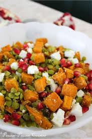 pousse pousse cuisine pousse pousse cuisine salade pois cassés feta patate douce et
