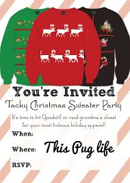 ugly christmas sweater party invitation templates free christmas