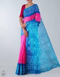 Buy Royal Blue Pure Silk Buy Pure Handloom Bandhani Silk Sarees Online Unnati Silks