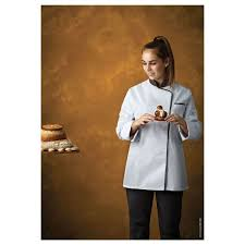 blouse de cuisine femme veste de cuisine femme expression blanc noir manches longues robur