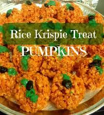Rice Crispy Treat Pumpkins Halloween Rice Krispie Treats Disney Baby