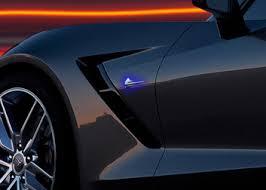 2014 corvette stingray emblem c7 corvette stingray 2014 led side fender emblem lighting effects