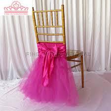 Wedding Chair Sash Aliexpress Com Buy Fuschia Tutu Wedding Chair Sash Tulle Chair
