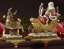 amazon com set of 2 joseph u0027s studio santa claus and reindeer
