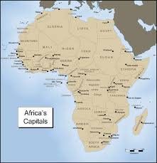 africa map quiz capitals countries and capitals map