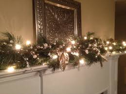 Christmas Decorations For Fireplace Mantel Christmas Garland White U0026 Silver Berries Silver Leaf