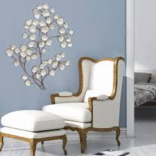 art home decor stratton home decor silver textured metal leaf wall decor s07693