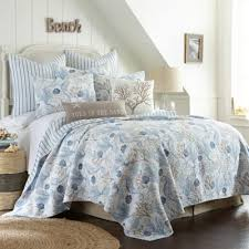 Seashell Queen Comforter Set Buy Blue Seashell Bedding From Bed Bath U0026 Beyond