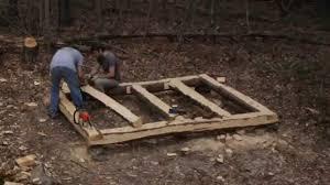 log floor 10 x 8 log cabin episode 3 floor joists part 2