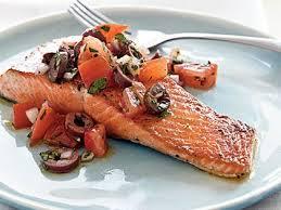 pan seared salmon kalamata olives salsa cruda recipe myrecipes