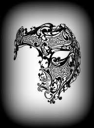 deluxe phantom black masquerade mask venetian filigree metal mask