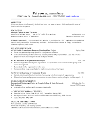 Sample Resume Objectives College Students by Lecturer Resume Objective Splixioo