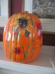 painted pumpkins fall decoration sunflower pumpkin 14 pumpkin