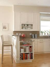 Kitchen Counter Designs with Kitchens That Maximize Small Footprints Cookbook Shelf Built
