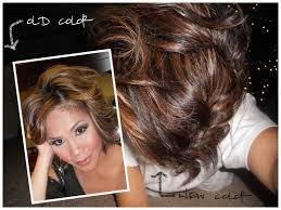 dark brown hair auburn lowlights copper highlights healthy