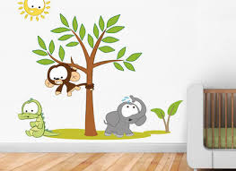 Kids Room Wall Decal Wall Decal Nursey Kids Tree Decals Bear - Animal wall stickers for kids rooms