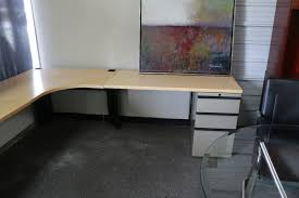 Used L Shaped Desk Knoll L Shaped Desk With Storage Plano Used Office Furniture