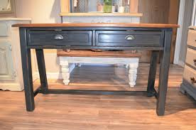Distressed Sofa Table by Distressed Black Sofa Table Entry Table Or Small Desk The Workshop