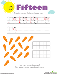 tracing u0026 counting numbers 0 20 worksheets education com