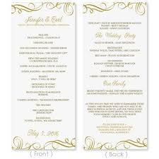 sle wedding program templates diy wedding programs microsoft word diy craft