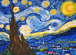 van gogh starry night acrylic painting by number kit