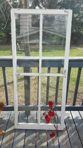 vintage wood window four 4 pane home decor modern farmhouse zoom