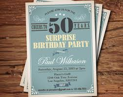casino 50th birthday invitation man birthday surprise