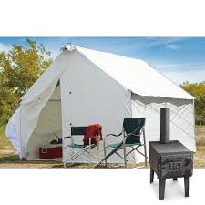 canvas camping tent ebay