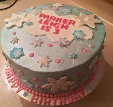 the client wanted a winter theme birthday cake without it being a