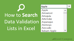 Exles Of Dashboards In Excel by How To Search Data Validation Drop Lists In Excel Excel Cus