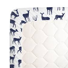 Deer Crib Sheets Windsor Navy Deer Crib Sheet Carousel Designs