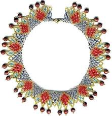 necklace beaded pattern images Beginner easy pattern seed beaded egyptian collar necklace etsy jpg