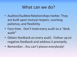 Desk Audit Definition Dealing With Difficult Auditees Ppt Video Online Download