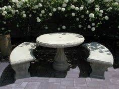 Concrete Patio Tables And Benches Concrete Garden Bench For Sale Mndslg เก าอ Pinterest