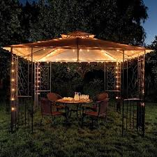 wilson and fisher solar lights how romantic and relaxing found this gazebo lights at big lots