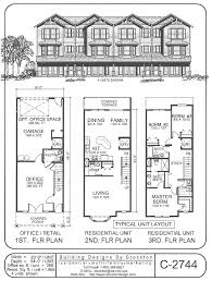 3 storey house plans 50 best row and town homes and plans images on
