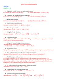 gcse maths unit 2 higher revision sheets by tristanjones