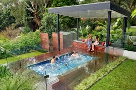 modern nice design of the outdoor spa landscaping ideas that has