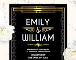 great gatsby birthday invitation template art deco invitation