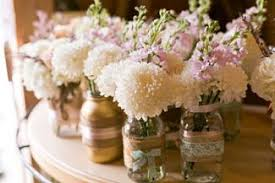 jar flower centerpieces three diy wedding flower centerpieces to make lovetoknow