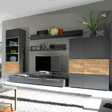 Wohnzimmerschrank Rund Wohnwand Massiv Modern Komponiert Auf Wohnzimmer Ideen Auch