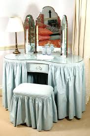 Blue Vanity Table Vanities A Blue Cotton Covered Kidney Shaped Dressing Table With